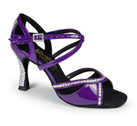 "Bianca Crystal - Purple Patent - Pictured on the 3.5"" IDS heel."