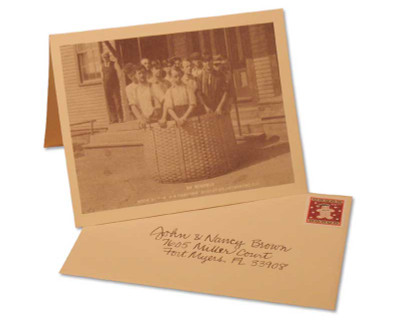 Peterboro Basket Gift Announcement Card