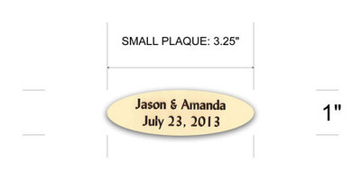 Peterboro Personalized Small Name Plaque