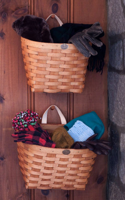 These stacking baskets are ideal for Winter gloves and hats storage.