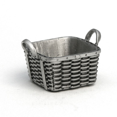 Fine Pewter Peterboro Square Laundry Basket