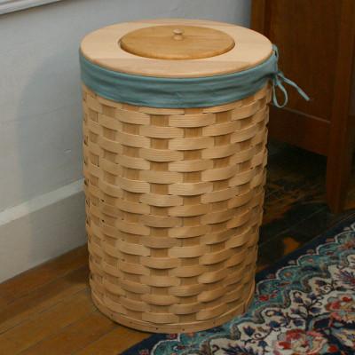 Peterboro Tall Round 13-Gallon Trash Basket / Hamper