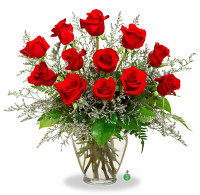 Twelve Medium Stem Red Roses