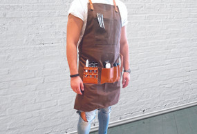 BARBER PRO Barbers Apron - Chocolate Brown