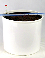 """9"""" Planter measures 9"""" x 8 1/2"""" tall"""