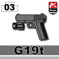 G19 Pistol with tactical light