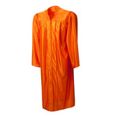 Shown is shiny orange gown (Cool School Studios 0012), front view.