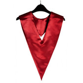 Shown is maroon v-stole (Cool School Studios 0092), front view.