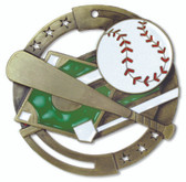 Baseball Enameled Medal from Cool School Studios.