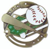 Baseball Enameled Medal from Cool School Studios.