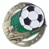 Soccer Enameled Medal from Cool School Studios.