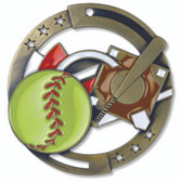Softball Enameled Medal from Cool School Studios.