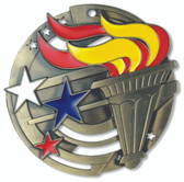 Torch - Enameled Medals - Priced Each Starting at 12
