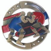 Wrestling Enameled Medal from Cool School Studios.