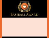 Gold Shield Baseball Award from Cool School Studios.