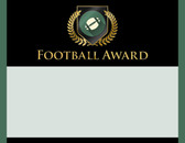 Gold Shield Football Award from Cool School Studios.