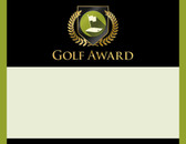Gold Shield Golf Award from Cool School Studios.