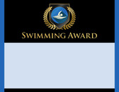 Gold Shield Swimming Award from Cool School Studios.