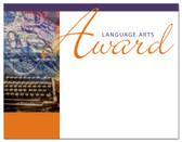 Lasting Impressions Language Arts Award, Style 1 (Cool School Studios 02016).