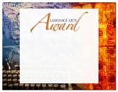 Lasting Impressions Language Arts Award, Style 2 (Cool School Studios 02115).