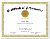 Shown is certificate border, style 2, in gold ink on white paper (Cool School Studios 02202).