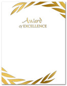 Gold Foil Embossed Award of Excellence from Cool School Studios.