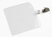 Shown is Top-Loading Badge Holder with Clip (04001) from Cool School Studios.