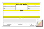 Image shows Discipline Notice 3-part Carbonless Form from Cool School Studios.