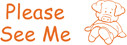 Image shows imprint of PLEASE SEE ME stamp (35164).