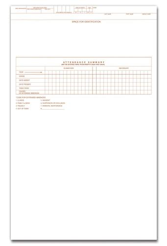Inside view of CA60 Student Cumulative Record Folder for Grades K-12.