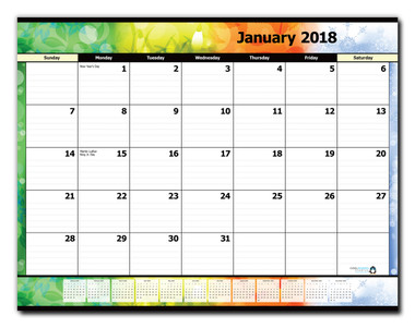 12-Month Desk Pad Calendar REFILL (January 2018 - December 2018 ...