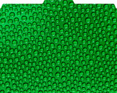 Folded view of File-'N Style Folder with Green Drops Pattern.