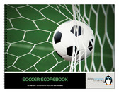 Image shows the cover of the Soccer Scorebook from Cool School Studios (BR 506).