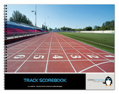 Shown here is the cover of the 19 Meet Track Scorebook from Cool School Studios (BR 511).