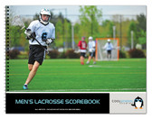 Shown is the cover of the Men's Lacrosse Scorebook from Cool School Studios (BR 570).