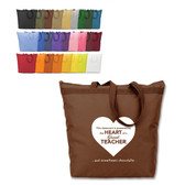Shown is the Cool School Studios (#08008) Brand GearTM Tote Bag in various color choices.