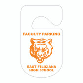 Shown is the 1-color Security Plastic Parking Hang Tag from Cool School Studios (KC-10H_1).