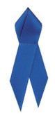 Shown is satin awareness ribbon in blue (Cool School Studios 09006).