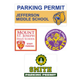 Image of four parking permit options from Cool School Studios.