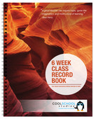 Image shows the 15 gauge cover option (05029) for the Six Week Class Record Book with Extra Week Column from Cool School Studios.
