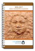 Shown is cover of 2016-2017 Dated Teacher's Daily Planner (05039-1617) from Cool School Studios.