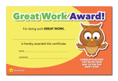 Shown is the YOU'RE A STAR Great Work Award (Cool School Studios 03013).