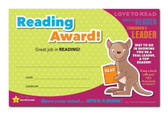 Shown is the YOU'RE A STAR Reading Award (Cool School Studios 03016).