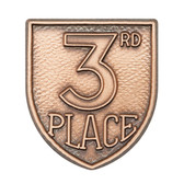 3rd Place - Die-Struck 100, 400 & 500 Medal Inserts - Priced Each Starting at 12