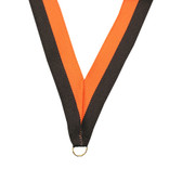 Black and Orange Medal Neck Ribbon - Priced Each Starting at 12