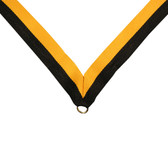 Black and Gold Medal Neck Ribbon - Priced Each Starting at 12