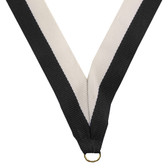 Black & White Medal Neck Ribbon - Priced Each Starting at 12