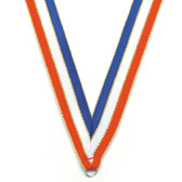 R-W-B Metallic Gold Medal Neck Ribbon - Priced Each Starting at 12