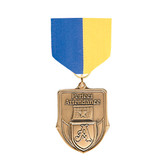 Blue & Gold Medal Pin Drapes - Priced Each Starting at 12