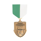Green & White Medal Pin Drapes - Priced Each Starting at 12